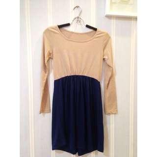 k-fashion blouse cream blue