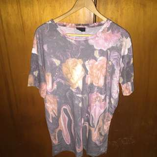 TOPSHOP Floral Printed Tshirt Oversized