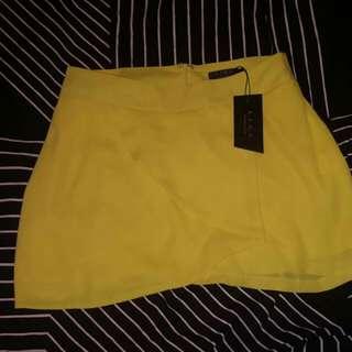 New Ezra Yellow 'Wrap A Line Skirt'
