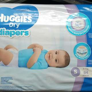 Huggies Dry Diapers S size