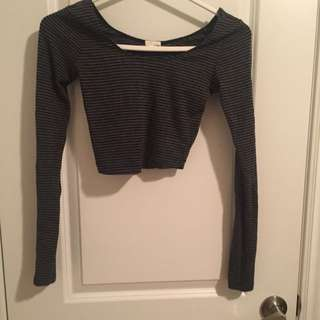crop top long sleeves