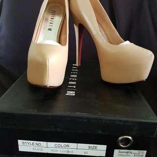 Nude Leather Heels