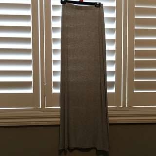Long Grey Maxi Skirt
