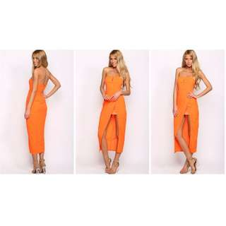 Who I Am - Stay with Me Orange Maxi / Formal Dress - from Hello Molly