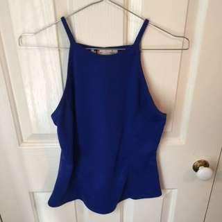 Blue Halter Top