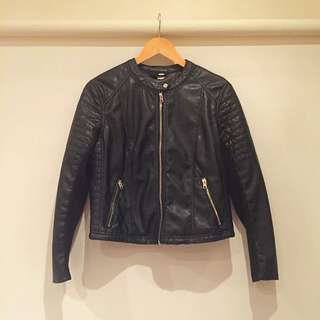 H&M Portugal (divided) Pleather Lightweight Jacket