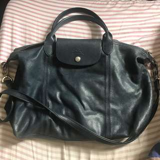 Selling Navy Blue Longchamp Cuir