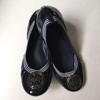 Authentic Tory Burch 'Caroline' - Patent Ballerina Flats