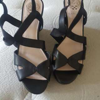 Vince Camutu Leather Wedges