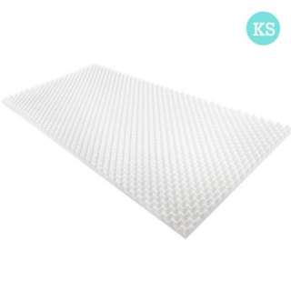 Deluxe Egg Crate Mattress Topper 5 cm Underlay Protector King Single