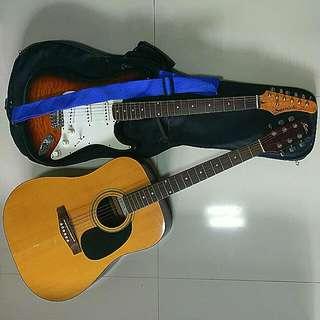 Samick Electric Guitar & FINA Guitar