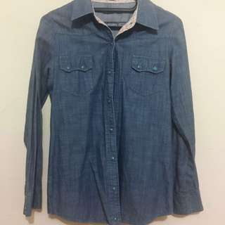 Kemeja Warna Blue Jeans