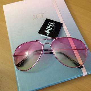 Pink Aviator Sunglasses