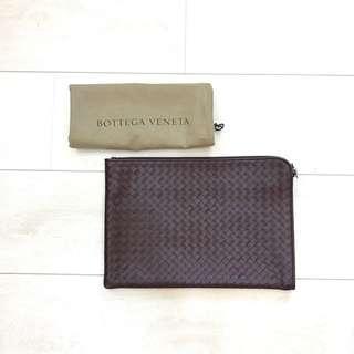 Authentic Bottega Venetta Leather Portfolio