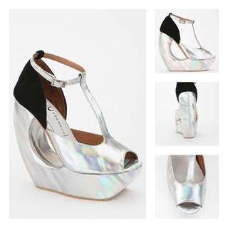 Jeffrey Campbell Rock Slip Hologram Platform Wedge