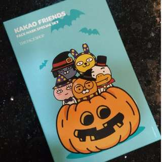 BNIP TheFaceShop x Kakao friends Halloween special face mask (LIMITED EDITION!!) URGENT CLEARANCE