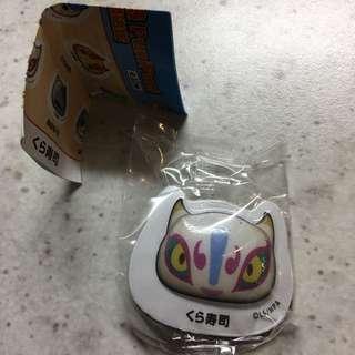 妖怪手錶 磁鐵 扭蛋 藏壽司 妖怪