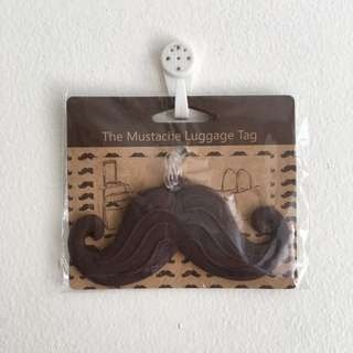 Moustache Luggage Tag