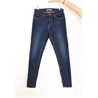 Levi's 710 Super Skinny Jeans in Dark Indigo (Unworn)