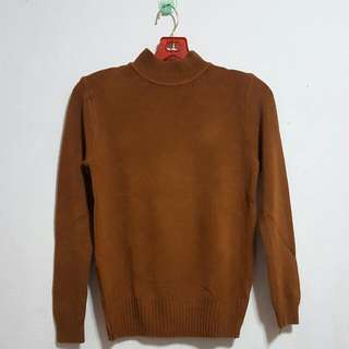 🌸 BN Khaki Turtleneck Knitted Long Sleeve Top