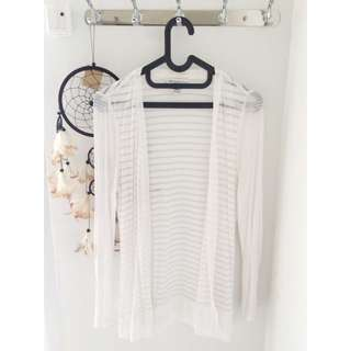White Striped Cardigan