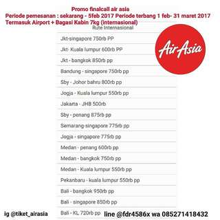 Promo Finalcall Tiket Air Asia