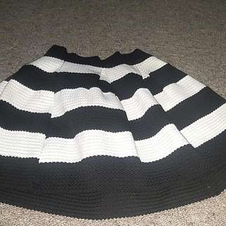 Mini Skirt Stripe Black/white