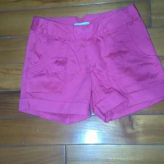 西瓜紅短褲 Xs