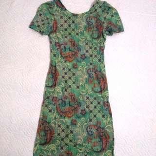 Batik Bodycon Mini Dress