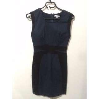 Paper Scissors black-navy bodycon dress