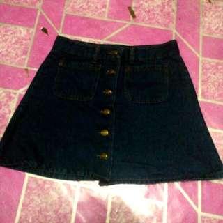 (REPRICE) Denim Skirt