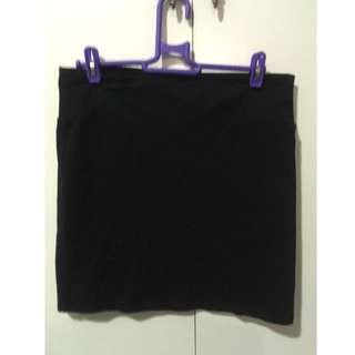 Cotton On black bodycon skirt