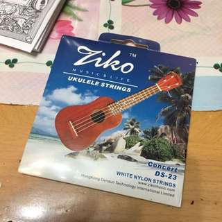 Ukulele線 Concert DS-23 White Nylon Strings