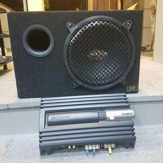 In Car Subwoofer + Amplifier