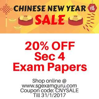 LAST CHANCE! 2016 Secondary 4 Exam Papers | O Level Test Papers 2016 | TILL 31ST JAN 2017 ONLY!!