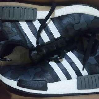 (REDUCED) US 8 Mens Bape X Adidas NMD 'Black Camo'