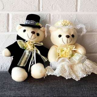 Wedding couple bear plush doll wedding gifts