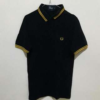 Authentic Polo Shirt FredPerry 2nd (Yellow Black)