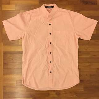 Casual Short Sleeved Shirt (Men's) - Coral/pink