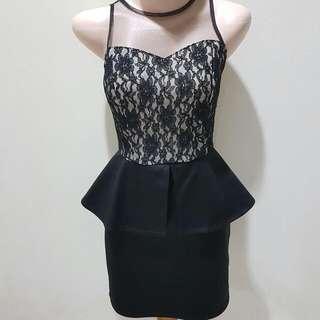 Preloved Cloth Inc Black Peplum Dress
