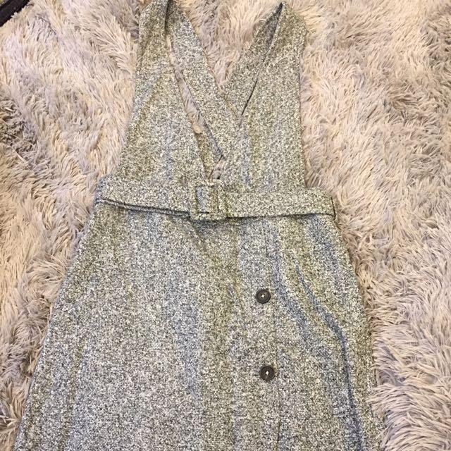 韓版吊帶裙-現貨 灰色(降價