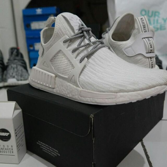 Adidas Nmd Xr1 Glitch All White