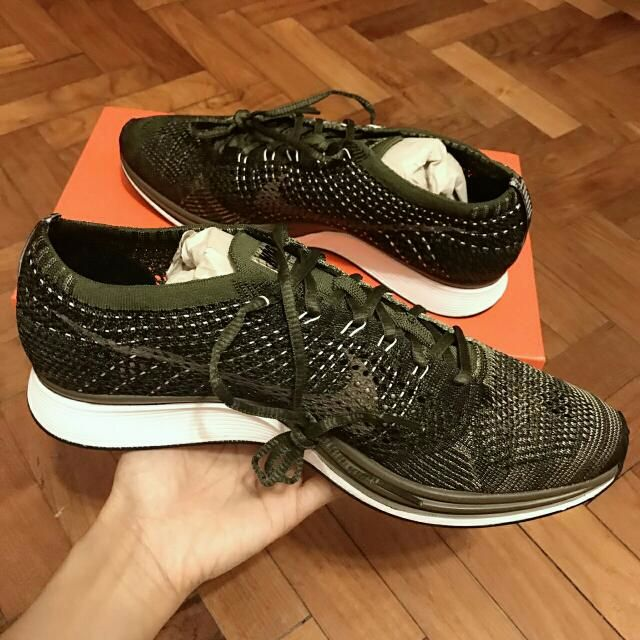 3834cb298c57 Authentic  Nike Flyknit Racer Rough Green (Earth Tone)