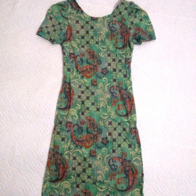 Batik Bodycon Mini Dress