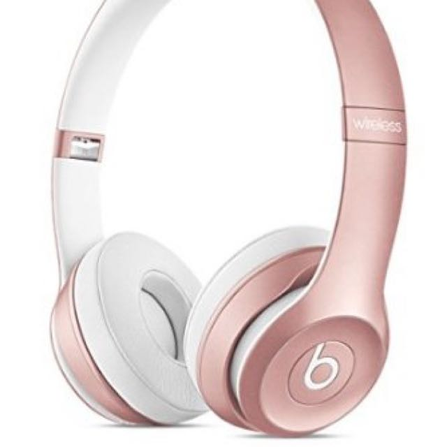 Beats Solo 2 Wireless Rose Gold Headphones
