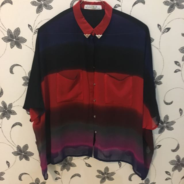 Black And Red Blouse Import