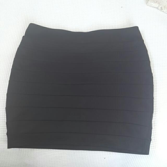 Black Supre Clubbing Skirt