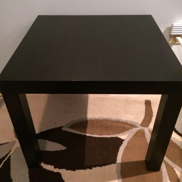 Black-Brown Lack Ikea Side Table