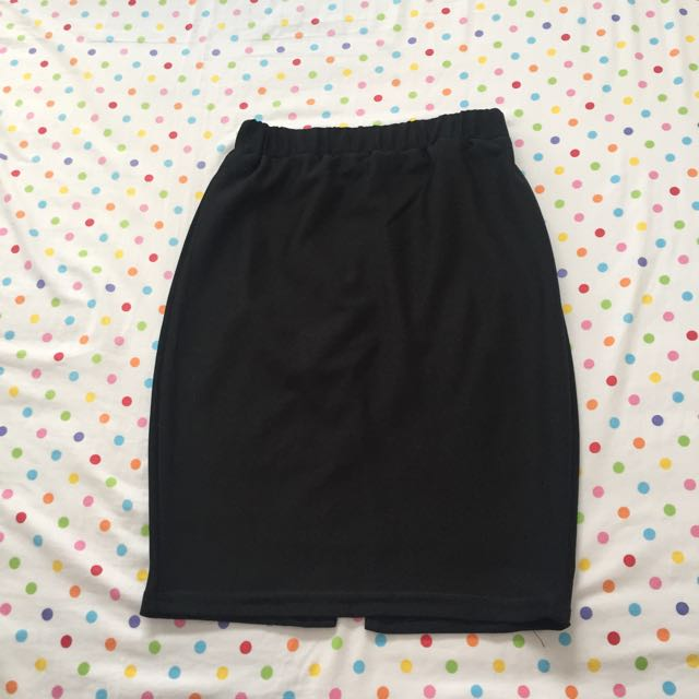 Bodycon Skirt In Black