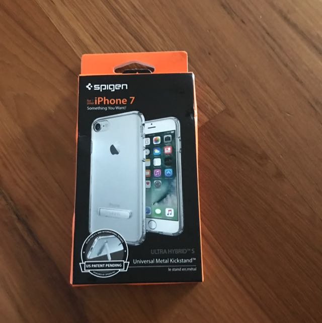 new products 47b33 7c379 Brand New Spigen iphone 7 Cover + Free Tempered Glass Screen Protector